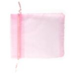 Organza zakjes, 100x120mm, Roze, 10 st