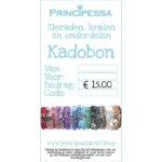 Kadobon, mooi verpakt, 15 Euro, 1 st
