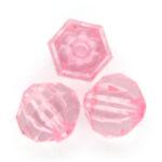 Acryl facetkraal,  8mm, Roze, 50 gr