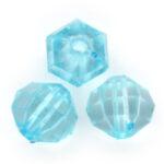 Acryl facetkraal,  8mm, Turquoise, 50 gr