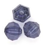 Acryl facetkraal,  8mm, Donkerblauw, 50 gr