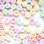 Letterkraal, Mix, Letters, Plat rond, Acryl, Pastel/Pastel, 7x4mm, 100 st
