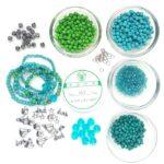 Armbandpakket voor Kids, Turquoise, Turquoise, 1 st