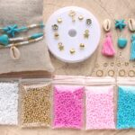 DIY startpakket armbandjes (2mm kraal), Goud, roze, turquoise