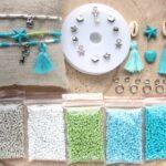 DIY startpakket armbandjes (2mm kraal), Zilver, groen, turquoise
