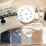 DIY startpakket armbandjes (2mm kraal), Zwart, goud, zilver, wit