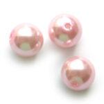 Ronde glasparel, 10mm, Roze, 85 st