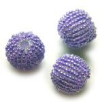 Rocailleballen, 20mm, Paars, 10 st