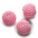 Rocailleballen, 20mm, Roze, 10 st