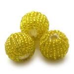 Rocailleballen, 20mm, Geel, 10 st