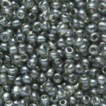 Rocailles, glanzend, 3,3x2mm, Grijs, 100 gr