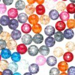 Crackle kralenmix,  6mm, Multi colour, 150 st
