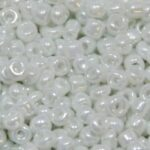 Rocailles van glas, shiny,  2mm, Wit, 50 gr