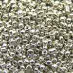 Rocailles van electroplated glas,  2mm, Zilver, 25 gr