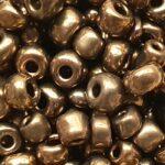 Rocailles van glas, glans,  4mm, Antiek goud, 50 gr