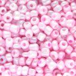 Rocailles van glas, opaque,  2mm, Baby roze, 20 gr