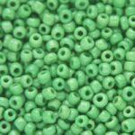 Rocailles van glas, opaque,  2mm, Groen, 50 gr