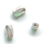 Langwerpige magneetkraal, lichte zilverkleur, 6x8mm, 50 st