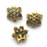 Kralenkapje, Girasole oro, goudkleurig, 12mm, 50 st