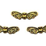Butterfly kraal, 22x6mm, Antiek Goud, 20 st