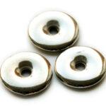 Ronde platte metal coated discus kraal, 23mm, 25 st
