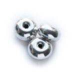 Rondelle, metal coated kraal, 10mm, 50 st