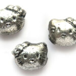 Kitty kraal, metal look, 9x8mm, 100 st