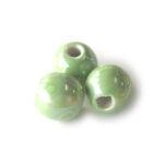 Ronde keramieken megaglans kraal, 20mm, Groen, 10 st