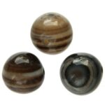 Ronde zwart gestreepte Agaat DQ kraal, 10mm, 10 st