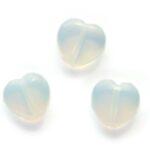 Hartvormige Maansteen DQ kraal, 10mm, 25 st
