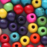 Kralenmix, Ronde kraal, Keramiek Turquoise,  4mm, Multi Colour,