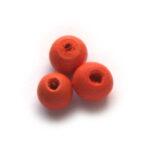 Ronde houten kraal,  5mm, Oranje, 250 st