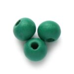 Ronde houten kraal DQ,  6mm, Emerald, 250 st