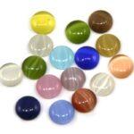 Cabochon plaksteen, Glas, Cateye, 10mm, Multi Colour, 20 st