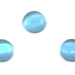 Cabochon Plaksteen, Glas, Cateye, 10mm, Turquoise, 10 st