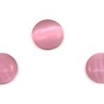 Cabochon Plaksteen, Glas, Cateye, 10mm, Roze, 10 st