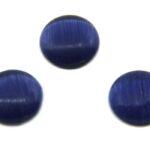 Cabochon Plaksteen, Glas, Cateye, 10mm, Donkerblauw, 10 st