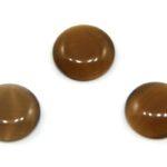 Cabochon Plaksteen, Glas, Cateye, 10mm, Bruin, 10 st