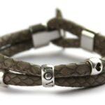 Zelfmaakpakket DQ econappa armband, Taupe, 1 st