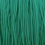 Gekleurd elastiek rond,  1mm, Zeegroen, 10 m