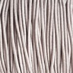 Gekleurd elastiek rond,  1mm, Taupe, 10 m