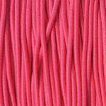Gekleurd elastiek rond,  1mm, Felroze, 10 m