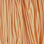 Gekleurd elastiek rond,  1mm, Pastel peach, 10 m