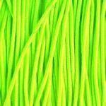 Gekleurd elastiek rond,  1mm, Fluo groen, 10 m