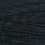 Ibiza elastiek plat/rond, 5x3mm, Zwart, 2 m
