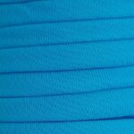 Ibiza elastiek plat/rond, 5x3mm, Fel turquoise, 2 m