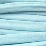 Ibiza elastiek plat/rond, 5x3mm, Babyblauw, 2 m