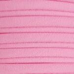 Ibiza elastiek plat/rond, 5x3mm, Roze, 2 m