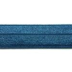 Ibiza elastiek, effen, 15mm, Donkerblauw, 1 m