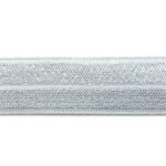 Ibiza elastiek, effen, 15mm, Zilver, 1 m